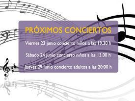 ¡Disfruta de nuestros próximos conciertos!